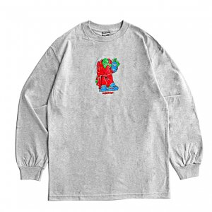 <img class='new_mark_img1' src='https://img.shop-pro.jp/img/new/icons5.gif' style='border:none;display:inline;margin:0px;padding:0px;width:auto;' />SAYHELLO OLD STYLE L/S TEE / HEATHER GREY (セイハロー  ロングスリーブTシャツ/ロンT)