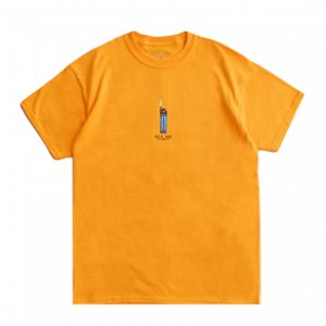 <img class='new_mark_img1' src='https://img.shop-pro.jp/img/new/icons5.gif' style='border:none;display:inline;margin:0px;padding:0px;width:auto;' />HOTEL BLUE LIGHTER TEE / GOLD (ホテルブルー Tシャツ/半袖)
