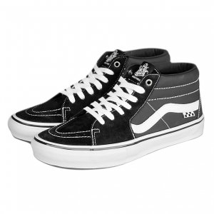 <img class='new_mark_img1' src='https://img.shop-pro.jp/img/new/icons5.gif' style='border:none;display:inline;margin:0px;padding:0px;width:auto;' />VANS Skate Grosso Mid / Black/White/Emo Leather(バンズ/ヴァンズ スケート スポーツ スニーカー)