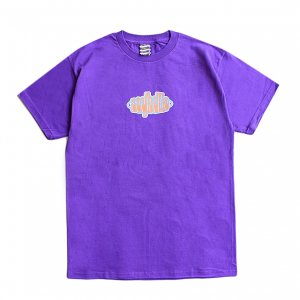 <img class='new_mark_img1' src='https://img.shop-pro.jp/img/new/icons1.gif' style='border:none;display:inline;margin:0px;padding:0px;width:auto;' />SAYHELLO PULL LOGO TEE / PURPLE (セイハロー / Tシャツ)