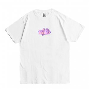 <img class='new_mark_img1' src='https://img.shop-pro.jp/img/new/icons1.gif' style='border:none;display:inline;margin:0px;padding:0px;width:auto;' />SAYHELLO PULL LOGO TEE / WHITE (セイハロー / Tシャツ)