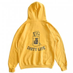 <img class='new_mark_img1' src='https://img.shop-pro.jp/img/new/icons5.gif' style='border:none;display:inline;margin:0px;padding:0px;width:auto;' />OUR LIFE x DIRTY PIGEON DIRTY LIFE PULLOVER HOODIE / MUSTARD(アワーライフ パーカー・スウェット)