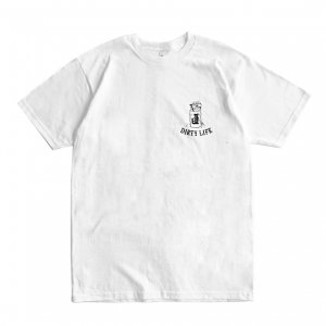 <img class='new_mark_img1' src='https://img.shop-pro.jp/img/new/icons5.gif' style='border:none;display:inline;margin:0px;padding:0px;width:auto;' />OUR LIFE x DIRTY PIGEON DIRTY LIFE CHEST TEE / WHITE (アワーライフ Tシャツ)