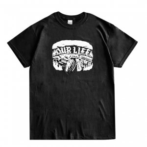 <img class='new_mark_img1' src='https://img.shop-pro.jp/img/new/icons5.gif' style='border:none;display:inline;margin:0px;padding:0px;width:auto;' />OUR LIFE BURNING BOBS TEE / BLACK(アワーライフ Tシャツ)