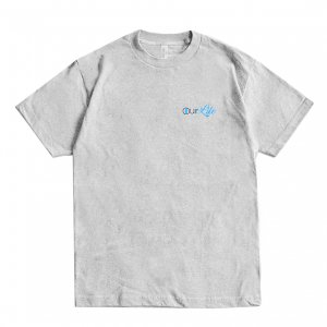 <img class='new_mark_img1' src='https://img.shop-pro.jp/img/new/icons5.gif' style='border:none;display:inline;margin:0px;padding:0px;width:auto;' />OUR LIFE ONLY LIFE TEE / HEATHER GREY(アワーライフ Tシャツ)
