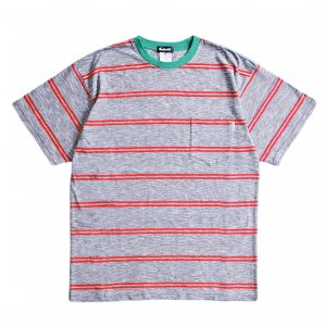 <img class='new_mark_img1' src='https://img.shop-pro.jp/img/new/icons1.gif' style='border:none;display:inline;margin:0px;padding:0px;width:auto;' />SAYHELLO Trim Border Pocket TEE / BLUE/GREEN (セイハロー / ボーダーTシャツ)