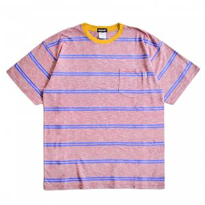 <img class='new_mark_img1' src='https://img.shop-pro.jp/img/new/icons1.gif' style='border:none;display:inline;margin:0px;padding:0px;width:auto;' />SAYHELLO Trim Border Pocket TEE / RED/MUSTARD (セイハロー / ボーダーTシャツ)