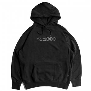 <img class='new_mark_img1' src='https://img.shop-pro.jp/img/new/icons5.gif' style='border:none;display:inline;margin:0px;padding:0px;width:auto;' />GX1000 OG LOGO HOODIE / BLACK (ジーエックスセン パーカー / スウェット)