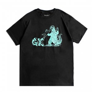 <img class='new_mark_img1' src='https://img.shop-pro.jp/img/new/icons5.gif' style='border:none;display:inline;margin:0px;padding:0px;width:auto;' />GX1000 FIRE DRAGON TEE / BLACK (ジーエックスセン Tシャツ / 半袖)