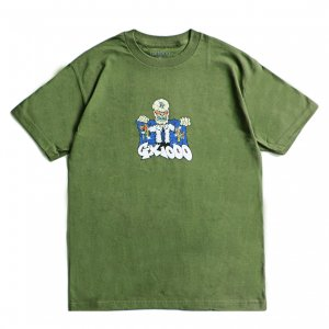 <img class='new_mark_img1' src='https://img.shop-pro.jp/img/new/icons5.gif' style='border:none;display:inline;margin:0px;padding:0px;width:auto;' />GX1000 WATCHMAN TEE / MILITARY GREEN (ジーエックスセン Tシャツ / 半袖)