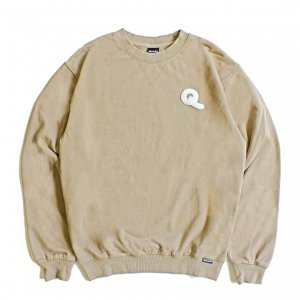 <img class='new_mark_img1' src='https://img.shop-pro.jp/img/new/icons5.gif' style='border:none;display:inline;margin:0px;padding:0px;width:auto;' />QUASI Q CREWNECK SWEAT / TAUPE (クアジ クルーネックスウェット)