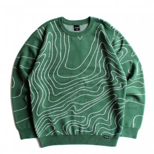 <img class='new_mark_img1' src='https://img.shop-pro.jp/img/new/icons5.gif' style='border:none;display:inline;margin:0px;padding:0px;width:auto;' />QUASI TOPO SWEATER / FOREST (クアジ クルーネックスセーター)