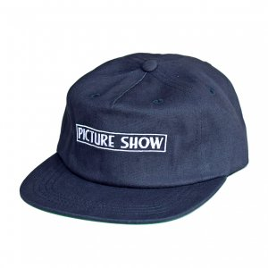 <img class='new_mark_img1' src='https://img.shop-pro.jp/img/new/icons5.gif' style='border:none;display:inline;margin:0px;padding:0px;width:auto;' />PICTURE SHOW VHS STRAPBACK CAP / NAVY (ピクチャーショー キャップ)