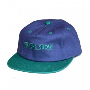 <img class='new_mark_img1' src='https://img.shop-pro.jp/img/new/icons5.gif' style='border:none;display:inline;margin:0px;padding:0px;width:auto;' />PICTURE SHOW VHS STRAPBACK CAP / SLATE×JADE (ピクチャーショー キャップ)