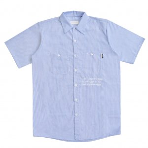 <img class='new_mark_img1' src='https://img.shop-pro.jp/img/new/icons5.gif' style='border:none;display:inline;margin:0px;padding:0px;width:auto;' />HORRIBLE'S ANALOG S/S WORK SHIRT / BLUE×WHITE (ホリブルズ 半袖ワークシャツ)