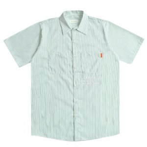 <img class='new_mark_img1' src='https://img.shop-pro.jp/img/new/icons5.gif' style='border:none;display:inline;margin:0px;padding:0px;width:auto;' />HORRIBLE'S ANALOG S/S WORK SHIRT / WHITE×GREEN (ホリブルズ 半袖ワークシャツ)