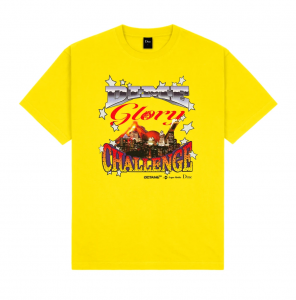 <img class='new_mark_img1' src='https://img.shop-pro.jp/img/new/icons5.gif' style='border:none;display:inline;margin:0px;padding:0px;width:auto;' />DIME GLORY CHALLENGE T-SHIRT / YELLOW (ダイム Tシャツ / 半袖)