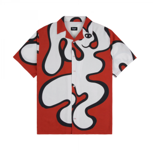 <img class='new_mark_img1' src='https://img.shop-pro.jp/img/new/icons5.gif' style='border:none;display:inline;margin:0px;padding:0px;width:auto;' />DIME CHILLING RAYON SHIRT / RED (ダイム 半袖シャツ / レーヨンシャツ)