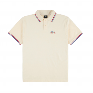 <img class='new_mark_img1' src='https://img.shop-pro.jp/img/new/icons5.gif' style='border:none;display:inline;margin:0px;padding:0px;width:auto;' />DIME GRASS POLO SHIRT / CREAM (ダイム ポロシャツ)