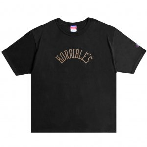 <img class='new_mark_img1' src='https://img.shop-pro.jp/img/new/icons5.gif' style='border:none;display:inline;margin:0px;padding:0px;width:auto;' />HORRIBLE'S HERITAGE T-SHIRT / BLACK (ホリブルズ Tシャツ)