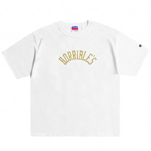 <img class='new_mark_img1' src='https://img.shop-pro.jp/img/new/icons5.gif' style='border:none;display:inline;margin:0px;padding:0px;width:auto;' />HORRIBLE'S HERITAGE T-SHIRT / WHITE (ホリブルズ Tシャツ)