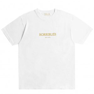 <img class='new_mark_img1' src='https://img.shop-pro.jp/img/new/icons5.gif' style='border:none;display:inline;margin:0px;padding:0px;width:auto;' />HORRIBLE'S LOGO T-SHIRT / WHITE (ホリブルズ Tシャツ)