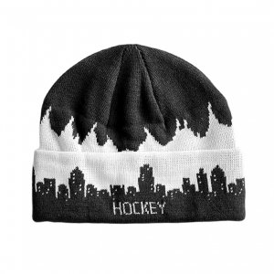 <img class='new_mark_img1' src='https://img.shop-pro.jp/img/new/icons5.gif' style='border:none;display:inline;margin:0px;padding:0px;width:auto;' />HOCKEY LIGHTS OUT BEANIE / BLACK x GROW IN THE DARK (ホッキー ビーニー/ニットキャップ)