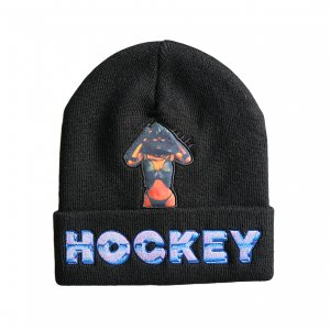 <img class='new_mark_img1' src='https://img.shop-pro.jp/img/new/icons5.gif' style='border:none;display:inline;margin:0px;padding:0px;width:auto;' />HOCKEY GWENDOLINE BEANIE / BLACK (ホッキー ビーニー/ニットキャップ)