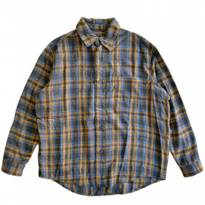<img class='new_mark_img1' src='https://img.shop-pro.jp/img/new/icons5.gif' style='border:none;display:inline;margin:0px;padding:0px;width:auto;' />HOCKEY FLANNEL SHIRT / BLUE (ホッキー フランネルシャツ)