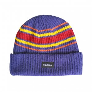 <img class='new_mark_img1' src='https://img.shop-pro.jp/img/new/icons5.gif' style='border:none;display:inline;margin:0px;padding:0px;width:auto;' />THEORIES BURST STRIPE BEANIE / COOL BLUE(セオリーズ ビーニー/ニットキャップ)