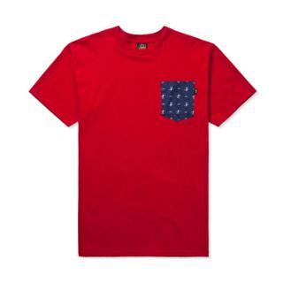 BENNY GOLD  MAKING WAVES POCKET T-SHIRT RED (ベニーゴールド Tシャツ)