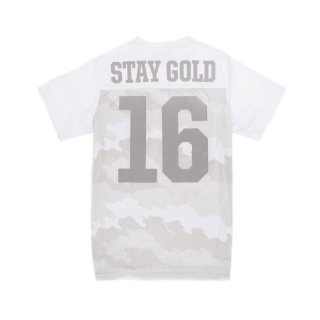 BENNY GOLD FOG CAMO JERSEY / CLOUD CAMO (WHITE) (ベニーゴールド 半袖シャツ)