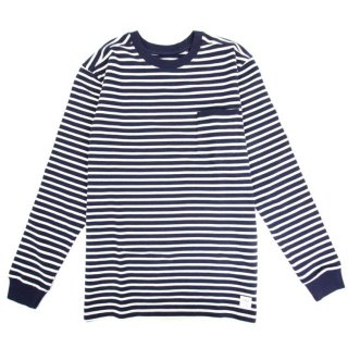 DQM DQM WOOLWICH L/S STRIPED KNIT CREWNECK / NAVY (DQM NYC/ロングスリーブTシャツ)