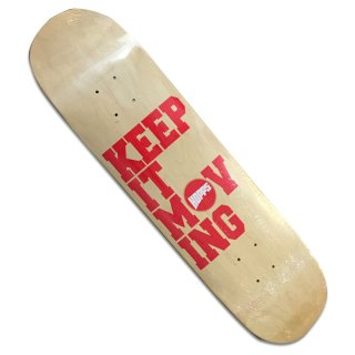 HOPPS KEEP IT MOVING DECK NATURAL/RED 7.75'<LION CONCAVE>(ホップス Tシャツ)