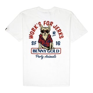 BENNY GOLD PARTY ANIMALS TEE / WHITE (ベニーゴールド Tシャツ)