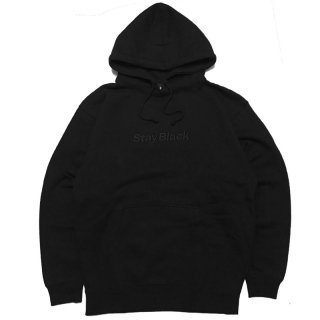 <img class='new_mark_img1' src='//img.shop-pro.jp/img/new/icons5.gif' style='border:none;display:inline;margin:0px;padding:0px;width:auto;' />STAY BLACK ORIGINAL LOGO HOODIE / BLACK x BLACK EMBROIDERY (ステイブラック フーディ/スウェットパーカー)