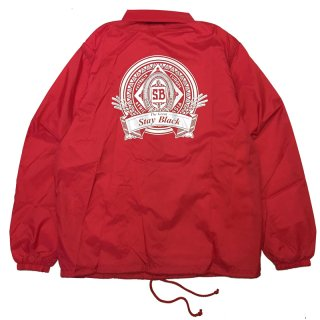 <img class='new_mark_img1' src='//img.shop-pro.jp/img/new/icons5.gif' style='border:none;display:inline;margin:0px;padding:0px;width:auto;' />STAY BLACK BUD LOGO COACH JACKET / RED (ステイブラック コーチジャケット)