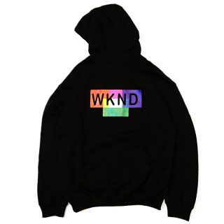 <img class='new_mark_img1' src='//img.shop-pro.jp/img/new/icons5.gif' style='border:none;display:inline;margin:0px;padding:0px;width:auto;' />WKND LINE COLOR BLOCK HOODIE / BLACK (ウィークエンド フーディ/スウェットパーカー)