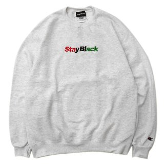 <img class='new_mark_img1' src='//img.shop-pro.jp/img/new/icons5.gif' style='border:none;display:inline;margin:0px;padding:0px;width:auto;' />STAY BLACK Wake Up Y'all CHAMPION CREWNECK SWEAT / GREY (ステイブラック クルーネックスウェット)