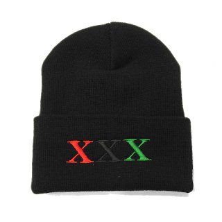 <img class='new_mark_img1' src='//img.shop-pro.jp/img/new/icons5.gif' style='border:none;display:inline;margin:0px;padding:0px;width:auto;' />STAY BLACK Salute XXX BEANIE CAP / BLACK (ステイブラック ビーニー/ニットキャップ)