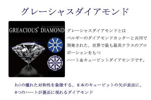 ダイアモンドの美しいハート&キューピット
