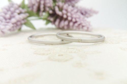 極細 タイニーリング プラチナ585 結婚指輪 2万円台 結婚指輪 ペアイメージ