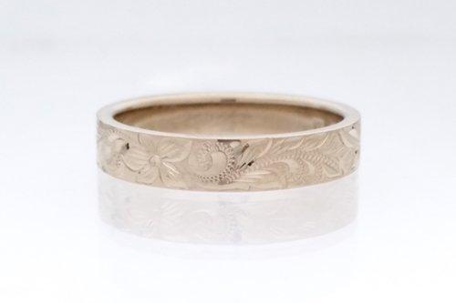 ハワイアン鍛造指輪 4mm幅