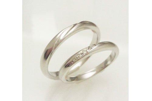 結婚指輪 プルーヴF K10ホワイトゴールド 2万円台
