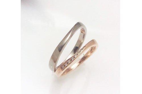 プルーヴE K10ピンクゴールド ブラックゴールド 結婚指輪 Preuve(プルーヴ)