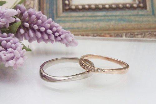 プルーヴE K10ピンクゴールド ブラックゴールド 2万円台 結婚指輪 Preuve(プルーヴ)