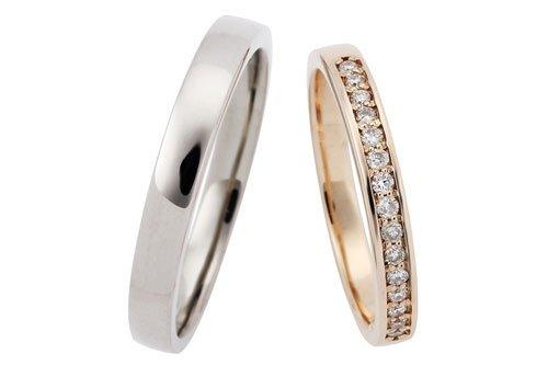 結婚指輪 プルーヴ K10ピンクゴールド・ブラックゴールド 3万円台