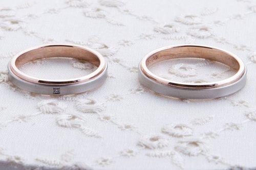 結婚指輪 tomoni  4万円台 プラチナ585 K10ピンクゴールド