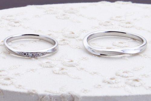 結婚指輪 K18ホワイトゴールド メンズ 4万円台
