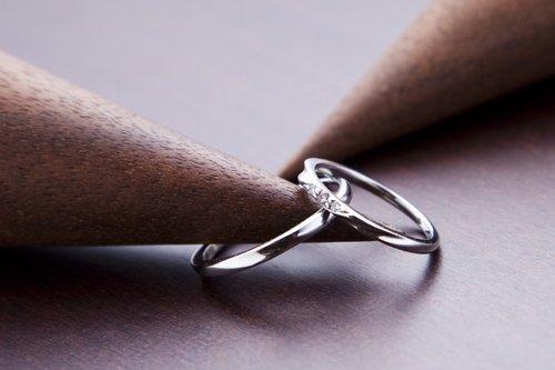 結婚指輪 メンズ K18ホワイトゴールド 4万円台